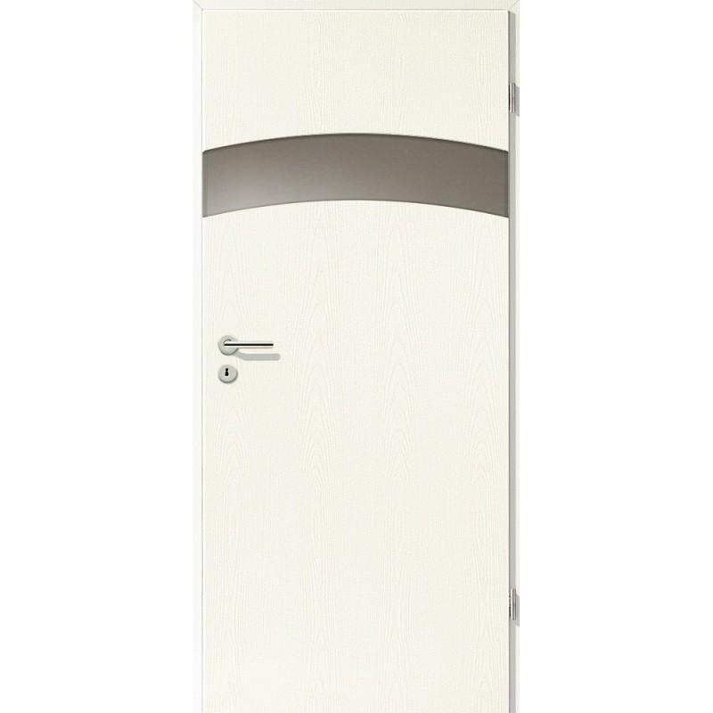 Holztüren - Türblatt - Esche Weiß mit Lichtband 2304-1LB