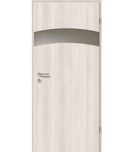 Türblatt - Lärche Weiß mit Lichtband 2304-1LB