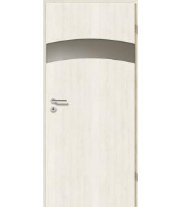 Türblatt - Pinie Weiß mit Lichtband 2304-1LB