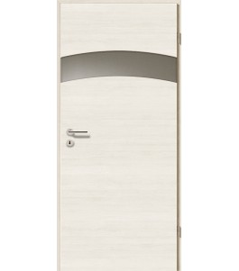 Türblatt - Pinie Weiß Cross mit Lichtband 2304-1LB