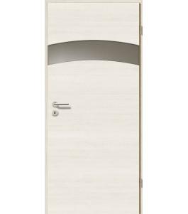 Holztüren - Türblatt - Pinie Weiß Cross mit Lichtband 2304-1LB