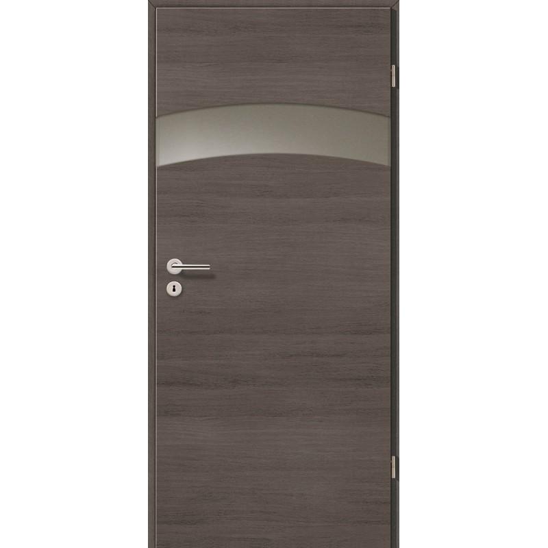 Holztüren - Türblatt - Pinie Grau Cross mit Lichtband 2304-1LB