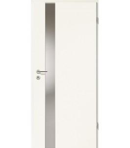 Türblatt - Uni Weiß mit Lichtband 2202