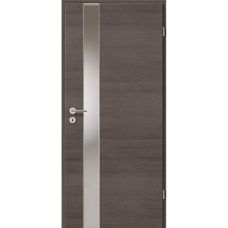 Holztüren - Türblatt - Pinie Grau Cross mit Lichtband 2202