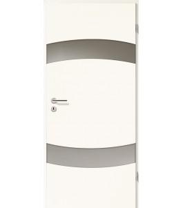 Türblatt - Arctic Weiß mit Lichtband 2304-2LB