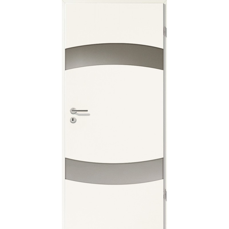 Holztüren - Türblatt - Uni Weiß mit Lichtband 2304-2LB