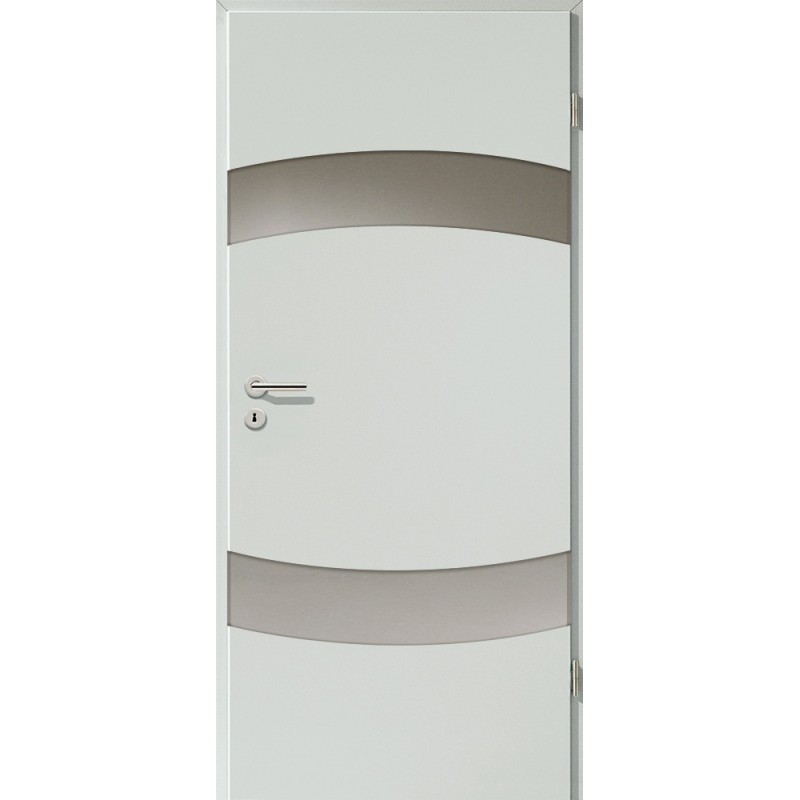 Holztüren - Türblatt - Hellgrau mit Lichtband 2304-2LB