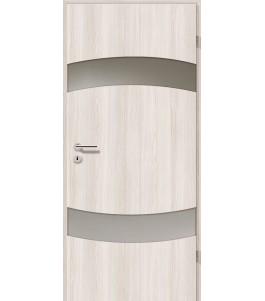 Türblatt - Lärche Weiß mit Lichtband 2304-2LB