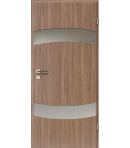 Holztüren - Türblatt - Nussbaum mit Lichtband 2304-2LB