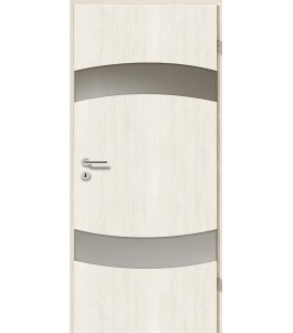 Türblatt - Pinie Weiß mit Lichtband 2304-2LB
