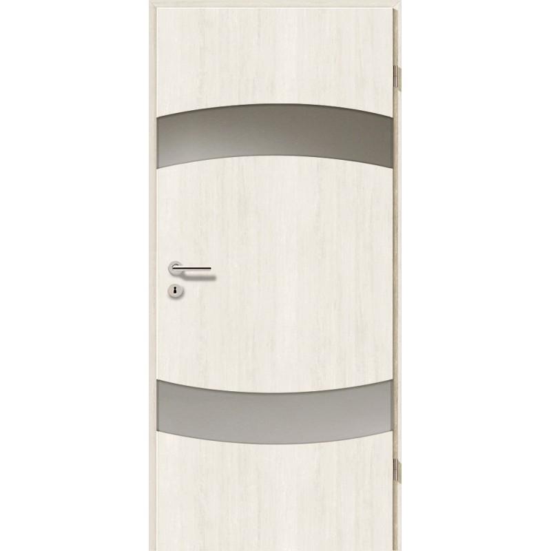 Holztüren - Türblatt - Pinie Weiß mit Lichtband 2304-2LB