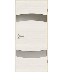 Türblatt - Pinie Weiß Cross mit Lichtband 2304-2LB
