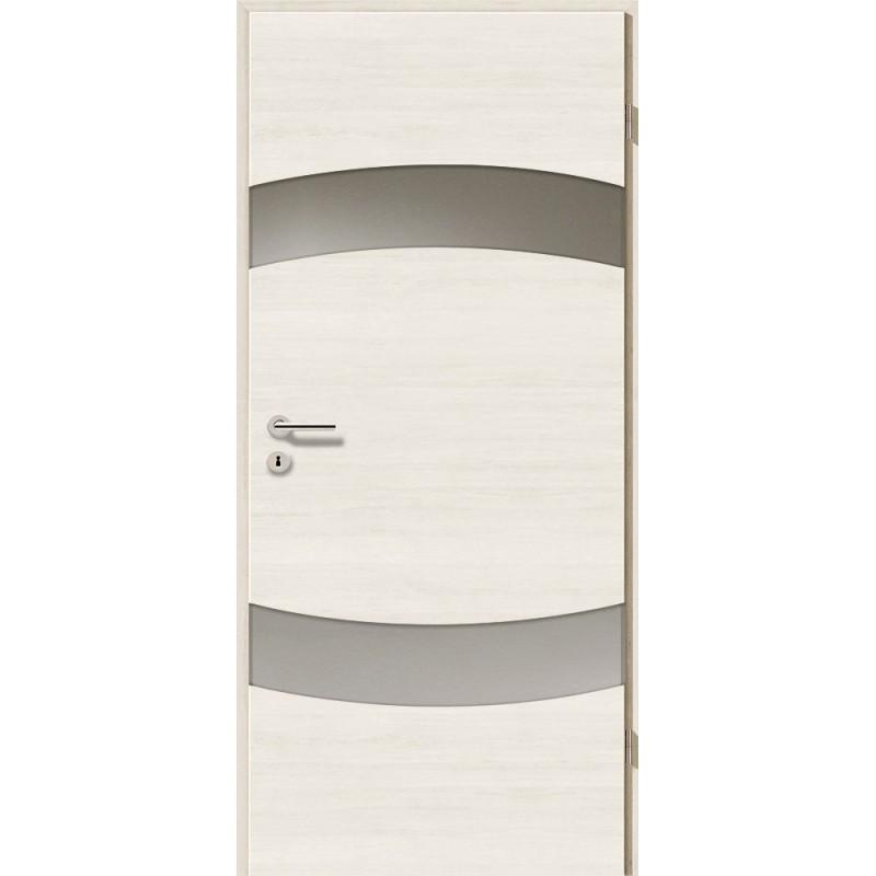 Holztüren - Türblatt - Pinie Weiß Cross mit Lichtband 2304-2LB