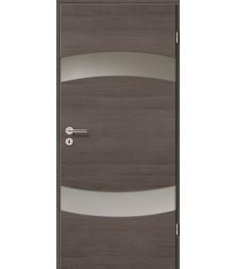 Holztüren - Türblatt - Pinie Grau Cross mit Lichtband 2304-2LB